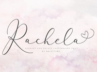 Rachela script calligraphy font handwritten