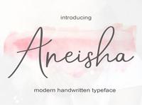 Aneisha calligraphy font script