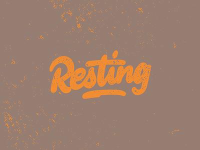 Hand lettering Resting logotype splash orange watercolor handlettering lettering