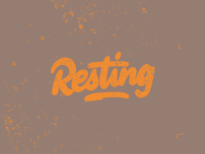 Hand lettering Resting logotype splash orange watercolor handlettering lettering