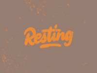 Hand lettering Resting