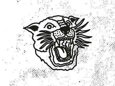 Tiger illustration art apparel logo design logo designer design black bw flash tiger illustration