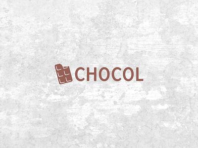 Chocol self commissioned logo chocolate brown clean minimal logodesigner branding brand graphic logodesign logo