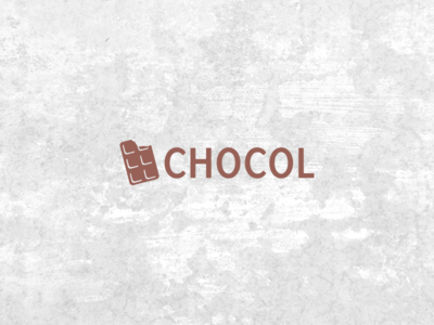 Chocol self commissioned logo chocolate brown clean minimal logodesigner branding brand graphic logodesign logo