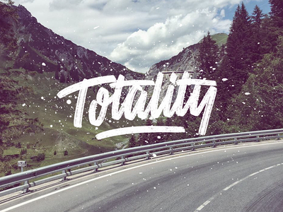 totality.... hand lettering!! logotype splash orange watercolor handlettering lettering