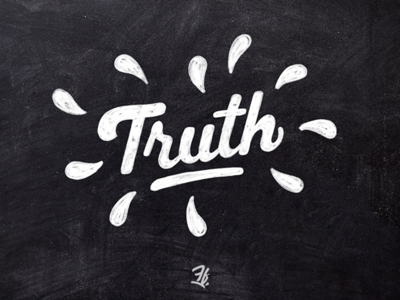 Truth handlettering chalky procreate ipad pro designer design logo logotype custom type liberty type letters lettering