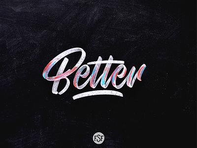Better lettering... logotype splash grey watercolor handlettering lettering