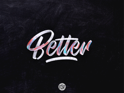 Better lettering... logotype splash grey watercolor handlettering lettering