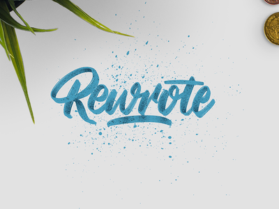 Rewrote hand lettering handlettering blue design type goodtype strengthinletters drawing lettering