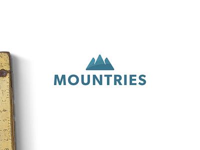 Mountries Logo food gastronomy branding brand type logotype handlettering logodesigner design logo