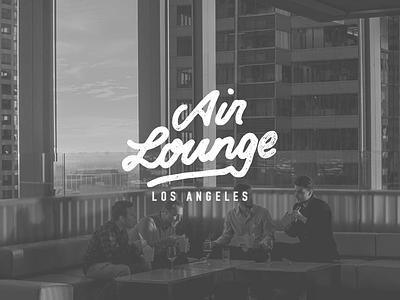 Air Lounge Logo food gastronomy branding brand type logotype handlettering logodesigner design logo