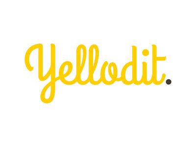 Yellodit yellow logo branding