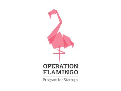 Operation Flamingo illustration identity logo branding
