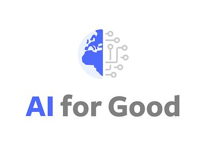 AI for Good corporate branding identity illustration branding logo