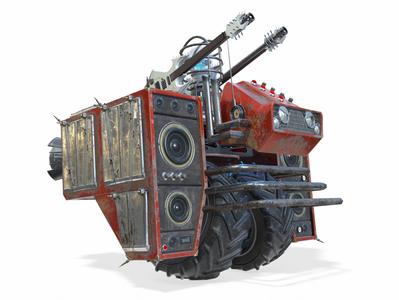 Heavy Metal Ground Enemies heavy metal music mecha 3d art model 3d modeling