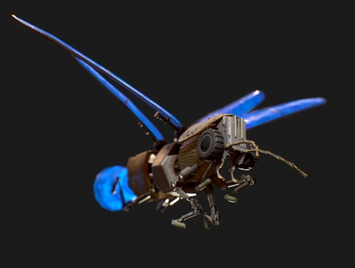 3D model of Lightning bug electronic cyberpunk scrap 3d model bug lighting bug