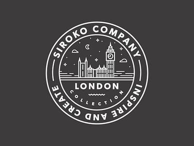 Sticker for Siroko // London Collection sticker design sticker art sticker branding icon design logo line art flat vector illustration