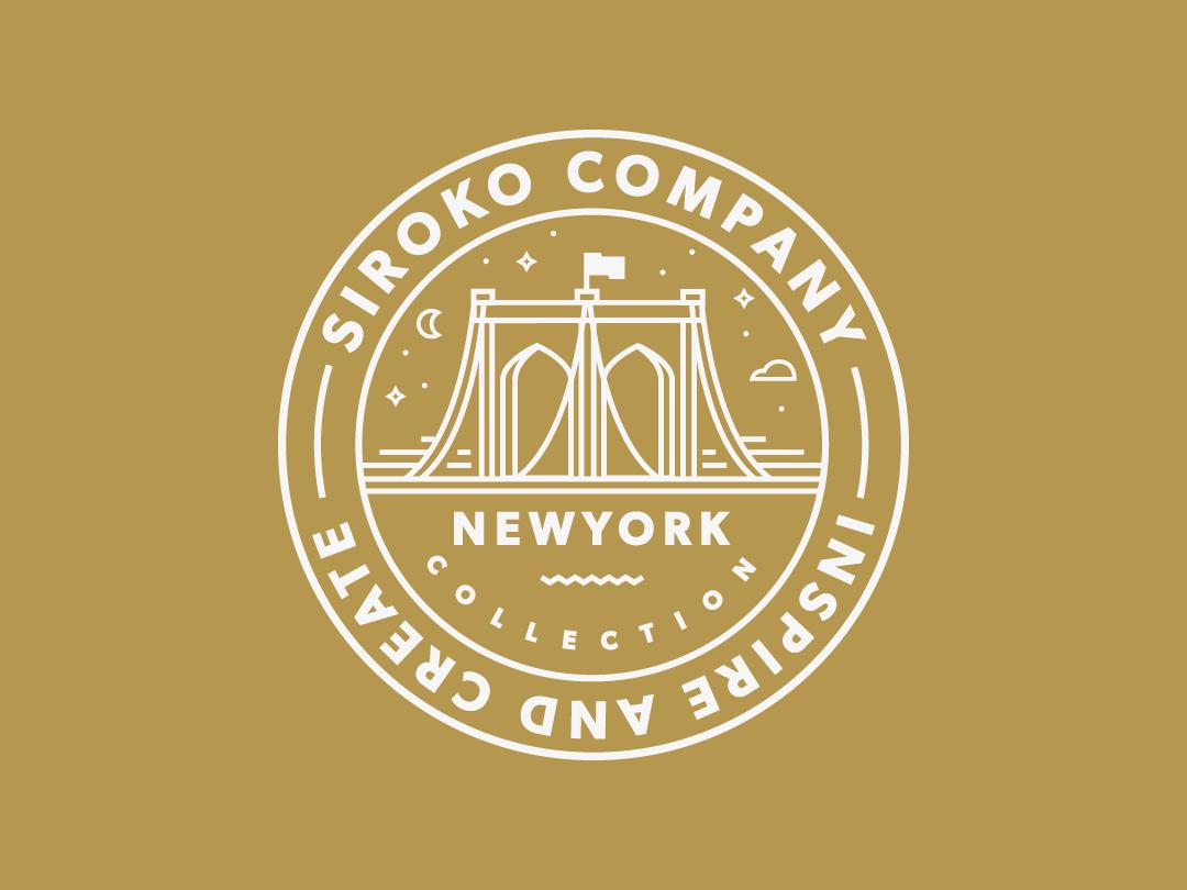 Sticker for Siroko // NewYork Collection design sticker art sticker branding icon logo line art flat vector illustration