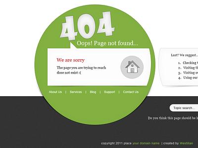 4 O! 4 error page black green gray page web error 404