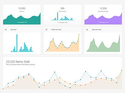 charts bar chart line chart sparkline graph charts analytics