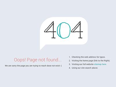 404 Oops! error 404