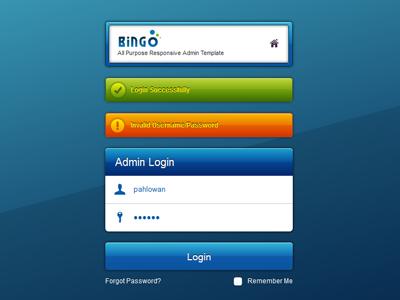 Login Page login form css3 clean form validation bingo admin admin login