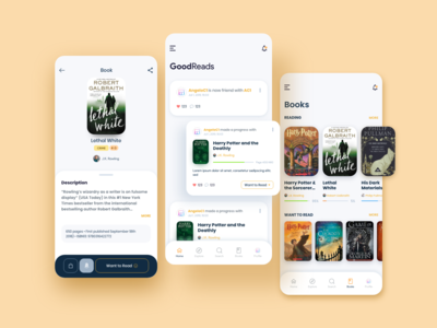 GoodReads • Book Tracker App - Redesign Concept