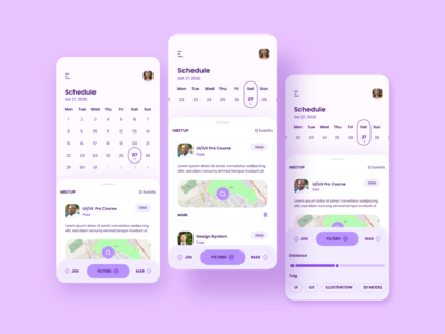 Meetup App • Adobe XD daily Challenge Day 7