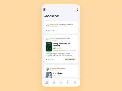 GoodReads • Book Tracker App - Redesign Concept (Video) amazon tracker bookshelf book goodreads adobe uiux mobile design dashboard app adobexd ux ui