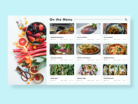 Google Sheets Meets Adobe Xd food ui menu googlesheets xd
