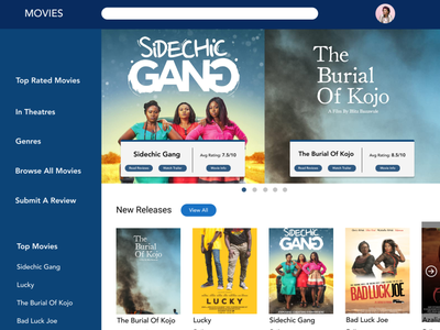 Ghana Movie Database (Concept) ux ui website web app app database ghana movie