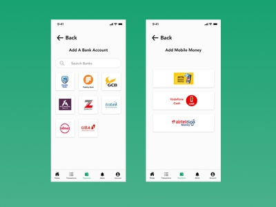 Bank App Concept For Ghana Millennials iphone banking ux mobile app ui ghana app
