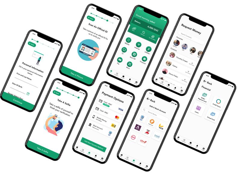 Ghana Digital Bank Concept app banking ux mobile app ui ghana