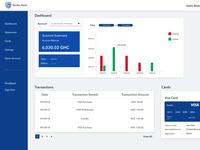 Stanbic Ghana Online Banking Dashboard