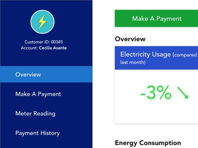 Electricity Dashboard electricity portal app dashboard