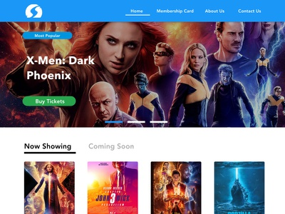 Silverbird Movie Website Redesign cinema silverbird redesign website