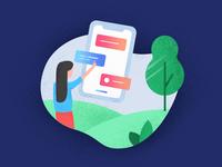 Mobile information illustration