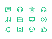 Icon practice commonly used in APP