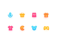 light skeuomorphism icon design