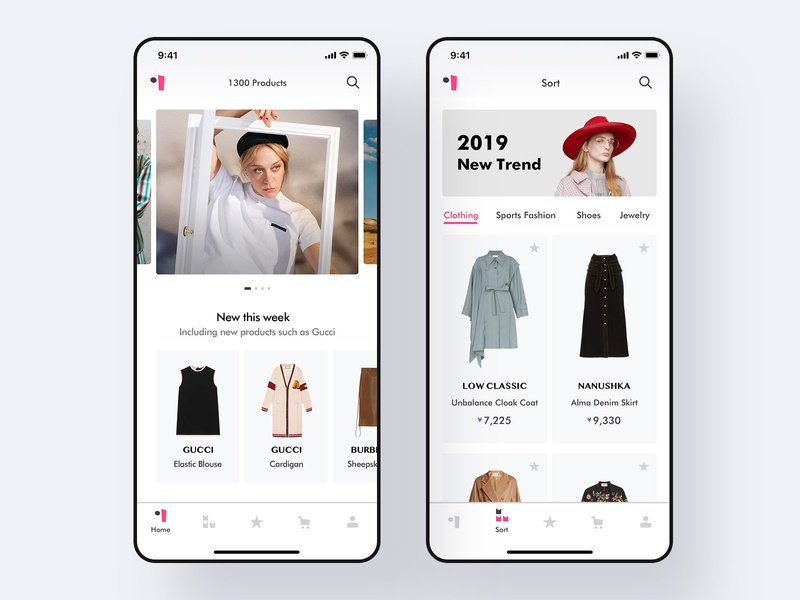 A practice about women's fashion application fashion logo icon design bar design cloth app daliy practice uiue pink icon clean ui womens fashion app fashion app