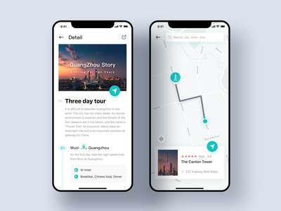 Travel App Map UI