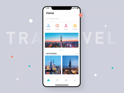 Travel Map Animation 金刚区图标 gradual icon icon design travel travel app travel app animation animation daily practice