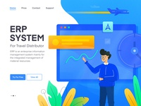 Travel ERP System Illustration