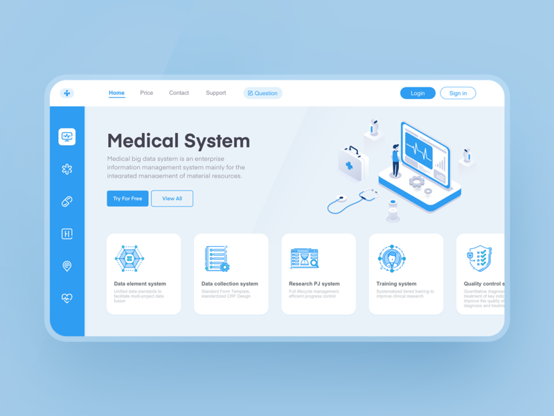 Medical System interview topic medical medical system 2.5d webui website daily practice