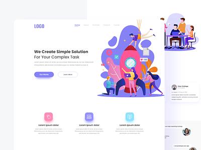 Creative Agency agency landingpage header web design page landing web clean uiux ux ui design