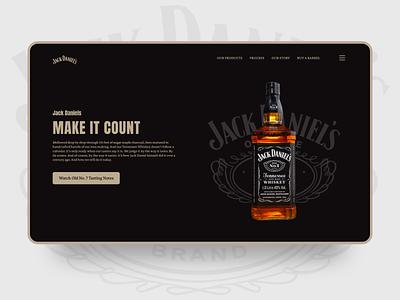 Jack Daniels jack daniels web design web clean uiux ux ui design