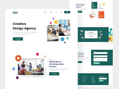 Creative agency web ui design design minimal agency landing page web design ux ui