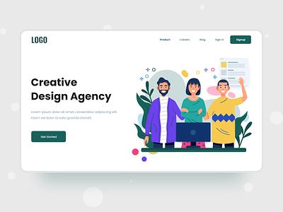 Design Agency design agency agency website header design landing page minimal ui design web design ux ui