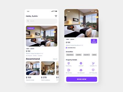 Hotel Booking hotel app app mobile app design hotel booking app hotel app design clean ux ui