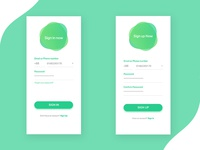 Sign in and sign up screen UI design #2